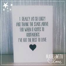 Godmother Gifts To Baby Card Godparent Card Godparents Card Thank By Madewithlovekirstie