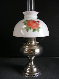 Nickel Table Lamp Bradley And Hubbard Table Lamp Oil Lamp Antiques