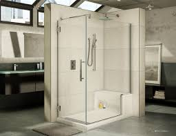 Acrylic Shower Doors 60 X 32 High End Acrylic Shower Base And Bench Seat With A