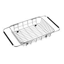 Kitchen Sink Basket Pull Retractable Drain Basket Rack 304 Stainless Steel Sink