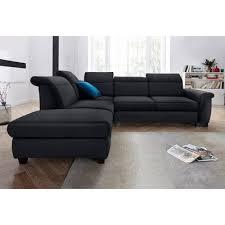 canape d angle noir canapé d angle sit more au choix convertible en lit noir