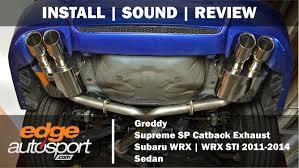 subaru exhaust system greddy catback exhaust subaru wrx sti 2011 2014 edgeautosport