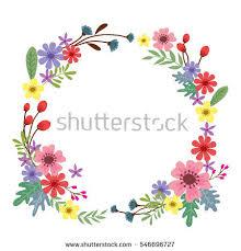 Border Designs For Birthday Cards Vector Illustration Beautiful Floral Border Heart Stock Vector