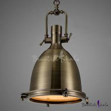 Industrial Pendant Light Industrial 1 Light Dome Shade Pendant Light Glass Diffuser