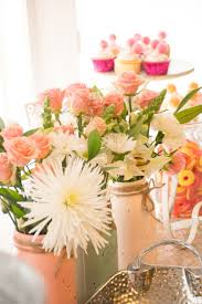 sweet little peach baby shower halfpint party design