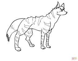 aardwolf africa coloring free printable coloring pages