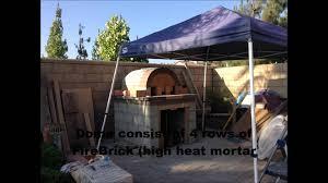 backyard firebrick wood burning pizza oven diy youtube