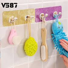 sticker wall hanger sticker wall hanger aliexpress com buy magic crystal wall sticker hanger adhesive hook colorful clothes