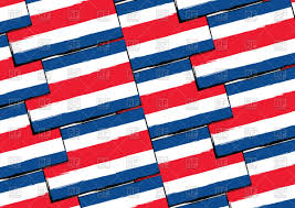 Costarican Flag Costa Rica Flag Seamless Pattern Royalty Free Vector Clip Art