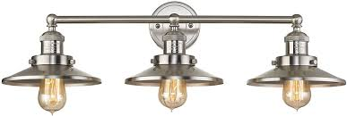 ELK  English Pub Contemporary Satin Nickel Light Bathroom - Bathroom vanity lighting brushed nickel