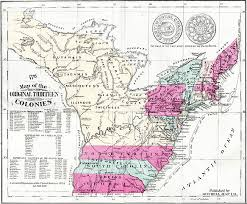 the thirteen colonies map revolutionary war thirteen colonies