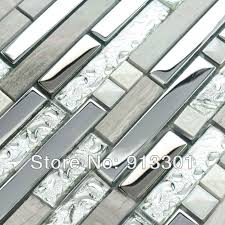 glass tile kitchen backsplashes pictures metal and white interlocking mosaic tiles stone stainless steel glass blend