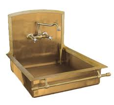 Italian Brass Sink With Towel Bar By Restart Of Florence - Brass kitchen sinks