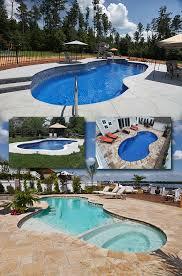 free form pools free form fiberglass swimming pools create a beautiful natural