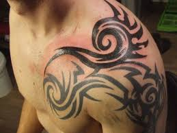 amazing tribal design left shoulder for