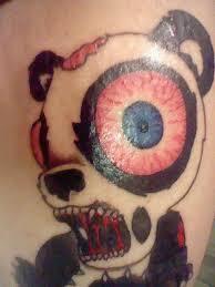 zombie panda bear tattoo tattoomagz