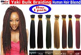 pictures if braids with yaki hair amazon com yaki bulk braiding hair human hair blend braids