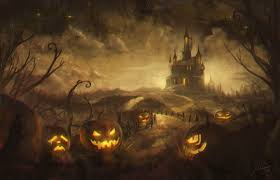 bright orange background pumpkin halloween free vector