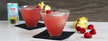 martini beach pineapple raspberry martini beverage recipes dole packaged foods