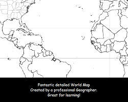 Blank World Map With Equator And Tropics by World Map Coloring Page Black U0026 White Map Countries Outline