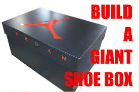 Build A Large Toy Chest by Build A Giant Shoe Box Nike Air Jordan Youtube