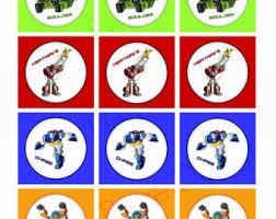 transformers rescue bots 1 edible cake or cupcake topper edible transformers cupcake toppers etsy