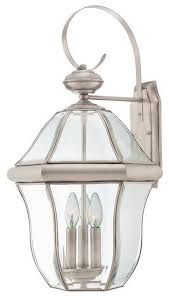 Pewter Sconces Pewter Solid Brass With Clear Beveled Glass Exterior Wall Light