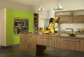 kitchen modest gloss green kitchen cabinet combine with oak