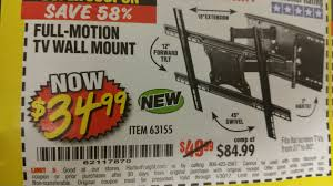 rocketfish full motion tv wall mount harbor freight tools coupon database free coupons 25 percent