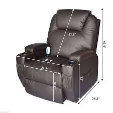 amazon com homcom massage heated pu leather 360 degree swivel