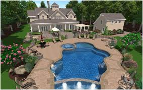 Backyard Landscaping Ideas With Pool by Garden Design With Bold Uamp Beautiful Contemporary Swimming Pool