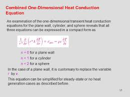 combined one dimensional heat conduction equation