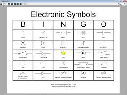 view document electronic symbols bingo cards
