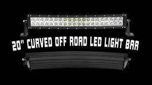 24 inch led light bar offroad 20 off road curved led light bar youtube