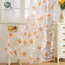 Sunflower Kitchen Curtains Light Pink Tulle Valance Blackout Curtain Panel Set Of Four