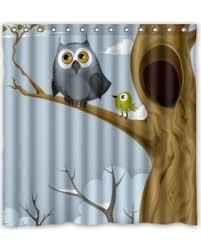 Novelty Shower Curtains Spooktacular Fall Savings On Owl Pastel Novelty Shower Curtain 66