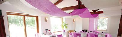 tenture plafond mariage tenture mariage de deco de salle