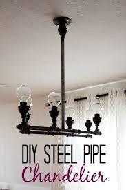 Light Fixture Chandelier Diy Steel Pipe Chandelier