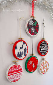 101 handmade days easy mini hoop ornaments busy being