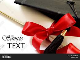 diploma red ribbon black graduation image u0026 photo bigstock