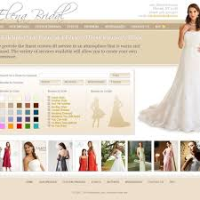 create your own wedding dress design for wedding bridal shop website custom themes