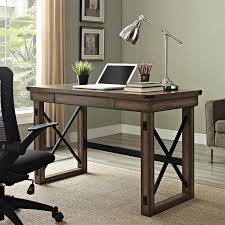 cheap ikea desk desks for home office ameriwood wildwood rustic writing desk small