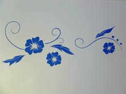 mural painting simple things make people happier blue flowers