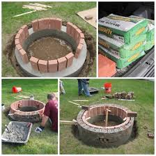 Brick Fire Pits by Grace And Josie The Diy Brick Fire Pit Project