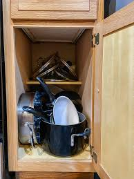 how to organize pots and pans in cabinet organizing pots pans and a must cabinet organizer