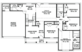 4 bedroom 2 story house plans 4 bedroom ranch house plans piceditors