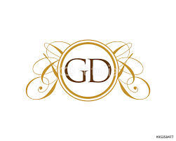 gd luxury ornament initial logo wall sticker wall stickers gd luxury ornament initial logo wall sticker