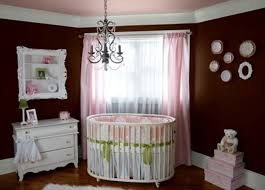 Chandelier Baby Room Baby Nursery Decor Brown Colored Wall Elegant Chandelier Baby