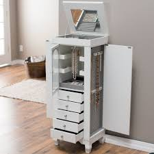 Shabby Chic Jewelry Armoire by Comfortable Wood Free Standing Shabby Chic Furniture White Jewelry