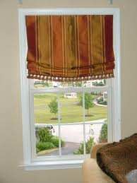 home design window treatment ideas roman shades deck hall window
